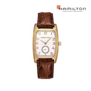 H13431553 아메리칸 클래식 볼튼 쿼츠 PVD 브라운 가죽 여성 시계
