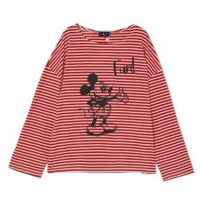 [LAPXDisney] 스트라이프 미키 티셔츠 (AL1GT265)