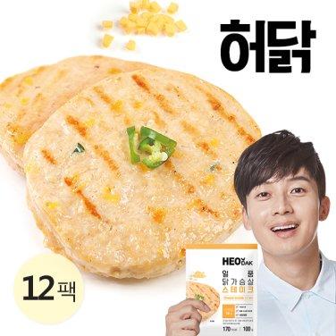 [특가] 일품 닭가슴살 스테이크 치즈불닭 100g 12팩