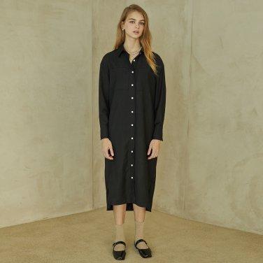P Pocket Shirt Dress_BK