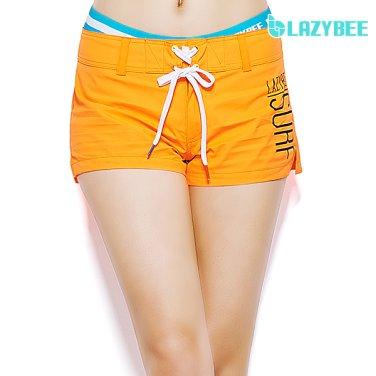[LAZYBEE] 레귤러1605 여성 보드숏팬츠-N.오렌지