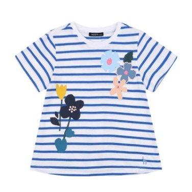 BU플라워 티셔츠(E_HPM11TR65M-BU)