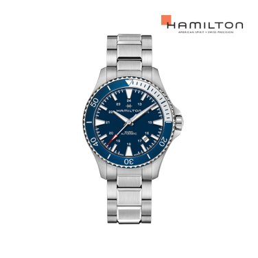 H82345141 카키 네이비 스쿠버 오토 40mm 블루 다이얼 메탈 남성 시계