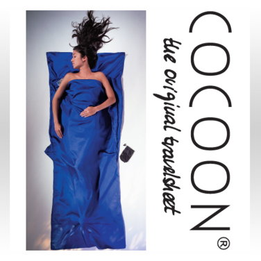 [COCOON] 코쿤 여행용 초경량 실크 라이너 울트라마린 블루 (ST80)