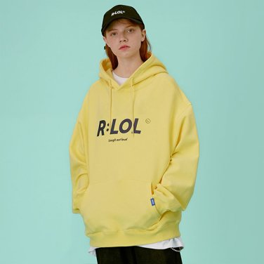 [RLOL] (HD-19703) RLOL BASIC HOOD T-SHIRT YELLOW
