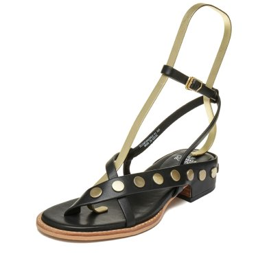 Leather stud sandal(black) DG2AM19053BLK / 블랙