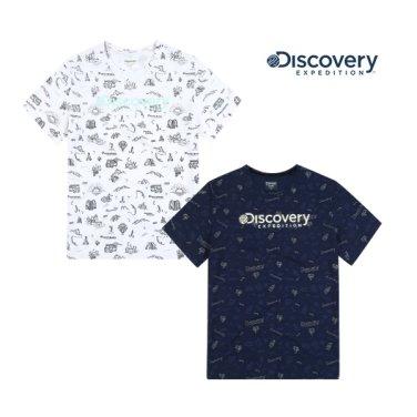 공용 올오버 그래픽 라운드 티셔츠 DXRTA6931