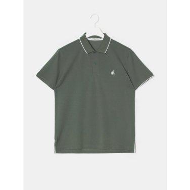 19SS  Unisex 카키 티핑 포인트 칼라 티셔츠(BC9342A13H)