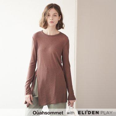 [우아솜메] Ouahsommet SOFT SLIT TOP [COCOA] (OBBTS004A)