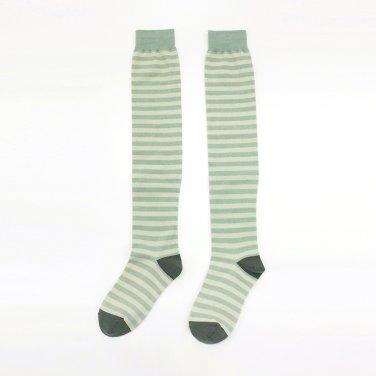 Glitter Pepe Thigh High_Mint-Beige-Dark Green ( JC20SSAC01MT)