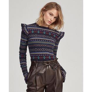 폴로 랄프 로렌 여성 페어 아일 러플트림 스웨터(WMPOSWEN6810343B90)