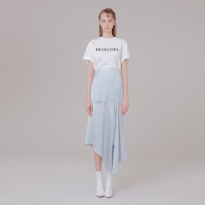 Silk detail skirt 001 Coolgray