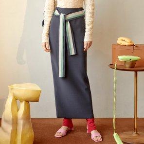 Conna Pencil Skirt_Charcoal (JC19FWSK11C)