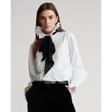 폴로 랄프 로렌 여성 러플트림 코튼 셔츠(WMPOSHTN6820008100)