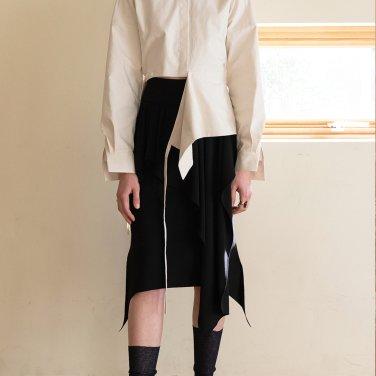 Curtain Skirt [Black] (JC18FWSK06_BK)