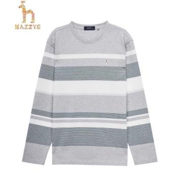 헤지스 라인배색 면 긴팔티셔츠(HZTS0A343G2)