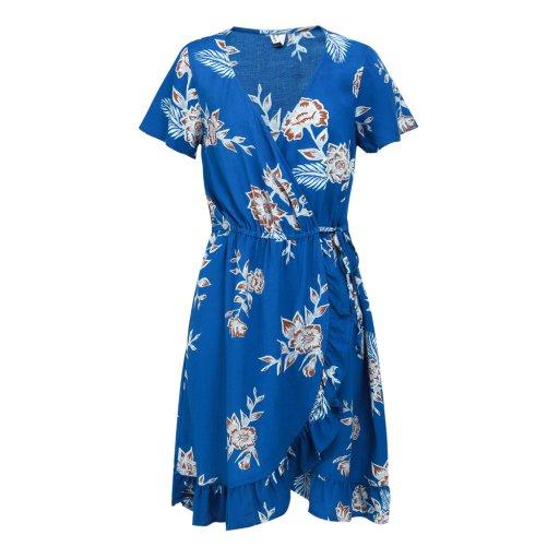여성 랩스타일 미디 드레스 R921DR233