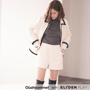 [우아솜메] Ouahsommet TWEED SHORT PANTS [WHITE] (OBBPT004A)