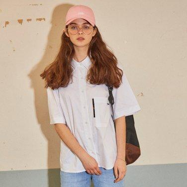 포켓 포인트 옥스퍼드 셔츠 화이트