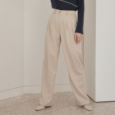 TUCKED PANTS_BEIGE