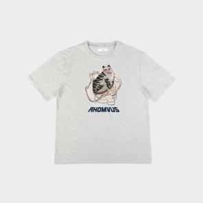 민화 호랑이 티셔츠 - GREY