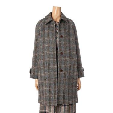 [여성]스탠카라 체크 싱글 코트(T198MCT239W)
