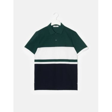 19SS  그린 컬러 블록 칼라 티셔츠(BC9342A14M)