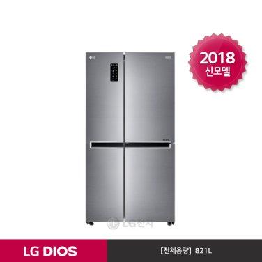 LG DIOS 양문형냉장고 S831S32H (821L/일반메탈)
