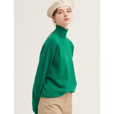 [GREEN BEANPOLE] 그린 솔리드 베이직 터틀넥 티셔츠 (BF9951N05M)