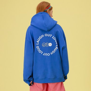 [RLOL] (HD-20101) RLOL BACK SMILE HOOD T-SHIRT BLUE