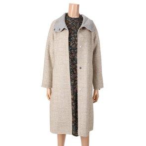 [여성]밴드넥 핸드메이드 코트 (T8MCT241W0