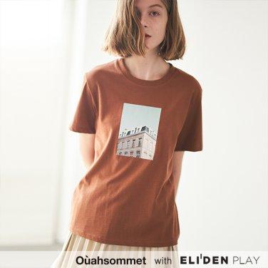 [우아솜메] Ouahsommet COLOR PRINT T-SHIRT [BROWN] (OBBTS008A)