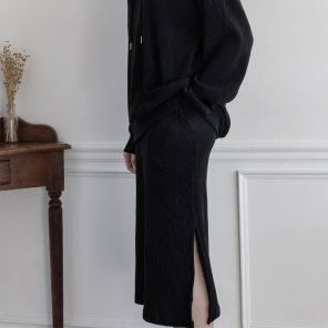 Merino Nano Natural Skirt Black(2019SSSK320_04)