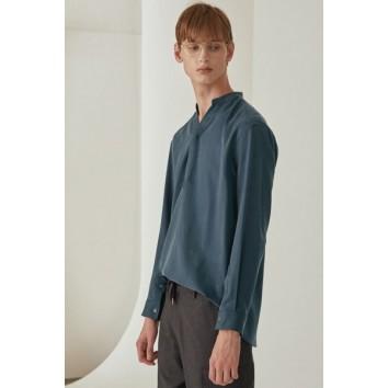 터콰이즈 스웨이드터치 튜닉 셔츠 (ARTS0A106T2)
