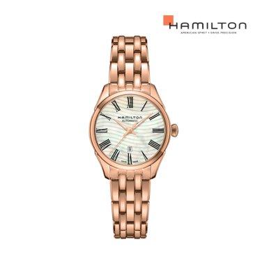 H42245191 재즈마스터 레이디 MOP 30mm PVD 로즈 골드 메탈 여성 시계