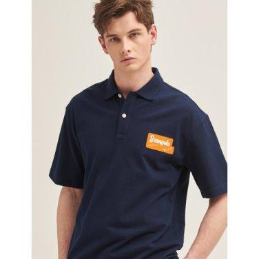네이비 와펜 포인트 루즈핏 칼라 티셔츠 (BC9442C20R)
