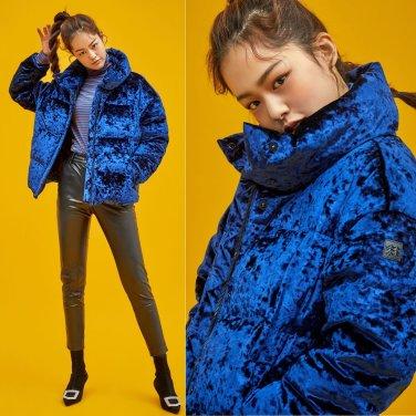 [코오롱스포츠]여성 벨벳 다운자켓(JKJDW18412NAY)