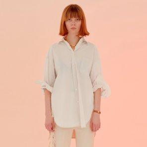 Pin Stripe Pullock Shirt_Ivory (JC20SSSH06IV)