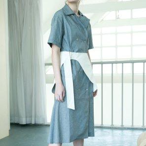 Hip Skirt Belt Dress [Dark Navy] (18SM03HBDDNF)