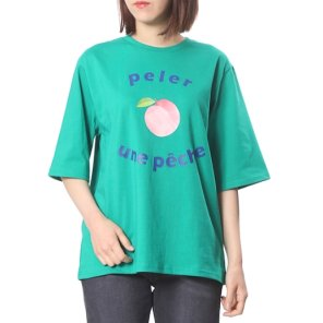 [플라스틱아일랜드] 복숭아 프린트 기본 티셔츠(PK1CH233)