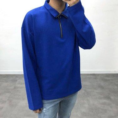 남자 가을 겨울 반집업 맨투맨 티셔츠