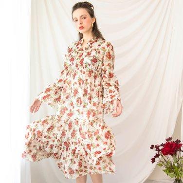 Waltz Shirring Bending Long Dress Ivory(2019SSOP320_05)