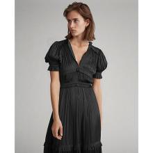 폴로 랄프 로렌 여성 플리츠 새틴 드레스(WMPODRSNCM20003001)