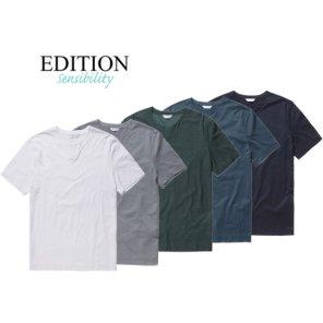 수피마 슬릿넥 코튼 티셔츠 5종칼라 NEA2TR1602