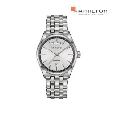 H42565151 재즈마스터 데이데이트 42mm 실버 메탈 남성 시계