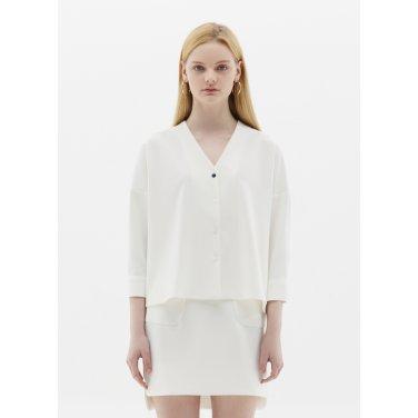 v neck blouse white SH09