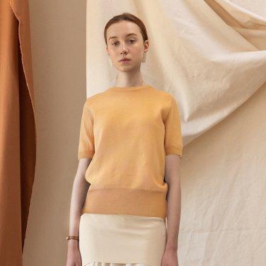 Athy Basic Half Sleeves Knit TOP [Fiesta Yellow] (JC19SSKT01_FY)