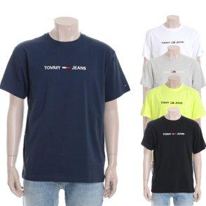 유니 코튼 레귤러핏 로고 티셔츠 TJMT1KOE26U0