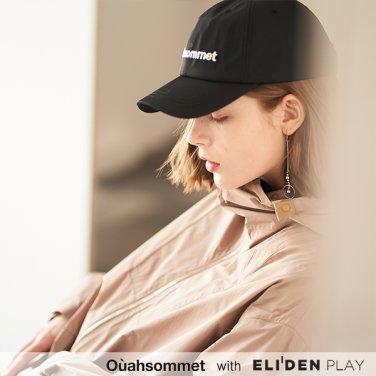 [우아솜메] Ouahsommet SYNTHETIC BALL CAP [BLACK] (OBBCP001A)