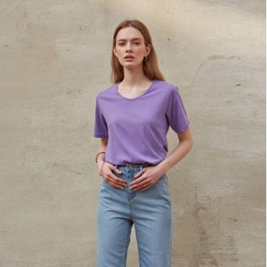 EASY U-NECK T-SHIRT_PURPLE